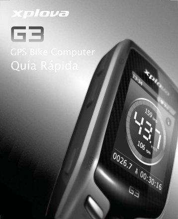 Xplova G3 QG_Spanish