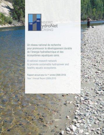 Rapport annuel 2009-2010 - NSERC HydroNet Network - Université ...