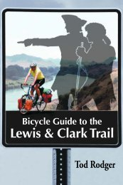 Front through Chapter 1 - Bicycle Guide to the Lewis and Clark Trail