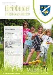Sommer 2012 - Gemeinde Weinburg