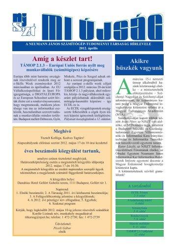 Mi Újság 2012. április - Neumann János Számítógép-tudományi ...