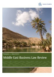 Middle East Business Law Review Summer 2013 - Trowers & Hamlins