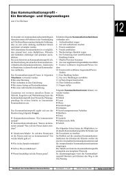 Das Kommunikationsprofil - Ein Beratungs- und Diagnosebogen