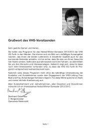 VHS-Programm Herbst/Winter 2012 - 2013 - Gemeinde Weihmichl