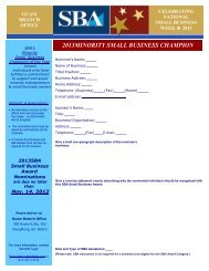 2013 Minority Small Business Champion of the Year Nomination Form