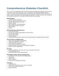 Comprehensive Diabetes Checklist