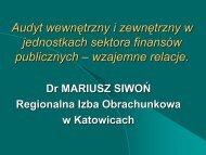 Audyt wewnętrzny i zewnętrzny w jednostkach sektora ... - Katowice