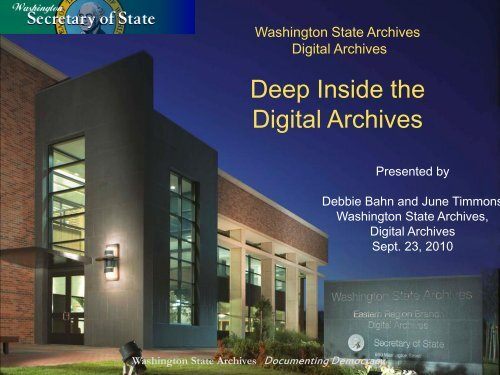 June Timmons and Debbie Bahn - Deep Inside the Digital Archives