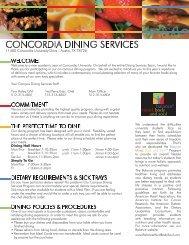 CONCORDIA DINING SERVICES - Concordia University