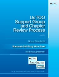 Us TOO Support Group and Chapter Review Process