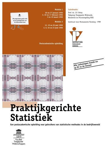 Praktijkgerichte Statistiek - Instituut voor Permanente Vorming