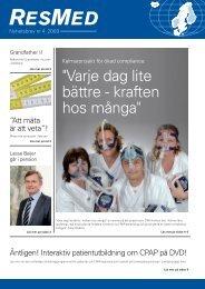 Nyhetsbrev nr 4 2009 - ResMed