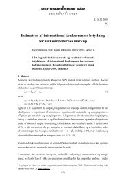 Estimation af international konkurrences betydning for ...