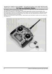 Spektrum's DX6i 6-Kanal DSM2™ Fernsteuersystem mit ... - RC-Toy