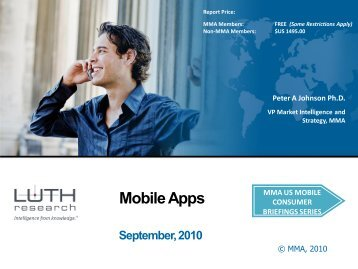 Mobile Apps - Mobile Marketing Association