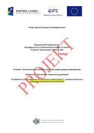 Projekt Wytycznych dla Projektodawców ubiegających się o ...