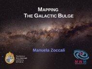 MAPPING THE GALACTIC BULGE Manuela Zoccali