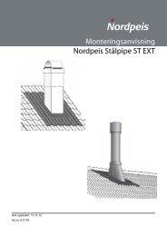 Monteringsanvisning Nordpeis Stålpipe ST EXT
