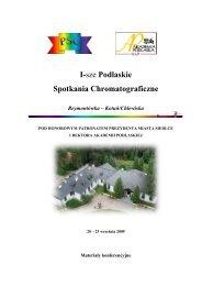 Volume 1/S/2009 - Zakład Chemii Analitycznej