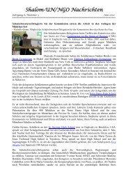 Shalom-UN/NGO Nachrichten - Arme Schulschwestern von Unserer ...