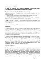 Rove beetle paper.cwk (WP) - Calodema