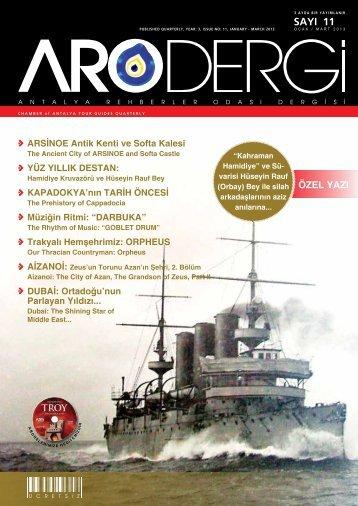 Sayı 11- Ocak/Mart 2013 - Antalya Rehberler Odası