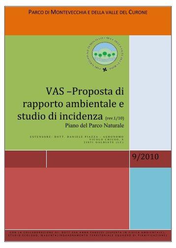 rapporto ambientale VAS Parco Naturale - Parco di Montevecchia e ...