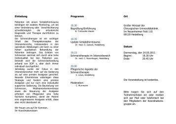 Einladung Programm 18.30 Begrüßung/Einführung 18.35 Update ...