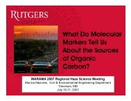 What do Molecular Markers tell us about the Sources of ... - MARAMA