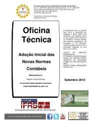 Oficina Técnica Adoção Inicial das Novas Normas Contábeis - Crc SP