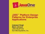 2333, J2EE Platform Design Patterns