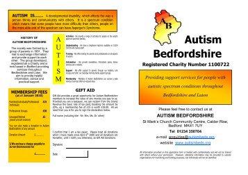 Membership Application Form 2009 FINAL VERSION - Autism ...