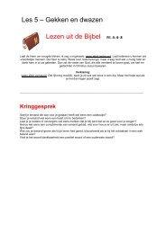 Les 5 – Gekken en dwazen Lezen uit de Bijbel Fil. 4 ... - Bijbelverhalen