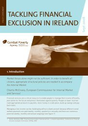Tackling Financial Exclusion in Ireland - Combat Poverty Agency