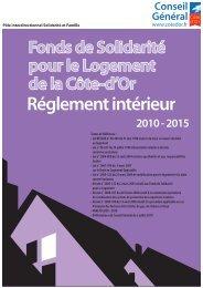 FSL - Conseil Général de la Côte-d'Or