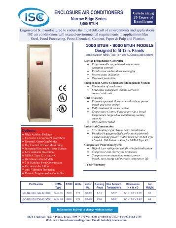 1000 BTUH - ISC Enclosure Cooling