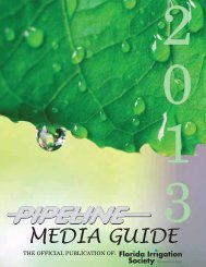 2013 Media Guide - Revised LR - Florida Irrigation Society