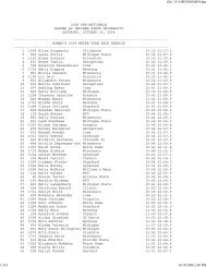 Open Race Results - Indiana State University Athletics