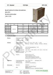 """19""""- Netzteil 100 Watt NTZ-100 - FG-Elektronik GmbH"""