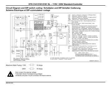 DTS 3141/3161/3181 SL – 115V / 230V Standard ... - Pfannenberg