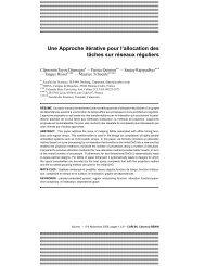 Une Approche itérative pour l'allocation des tâches sur réseaux ...