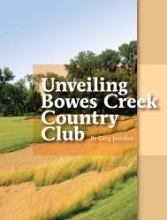 Unveiling Bowes Creek Country Club - Golf Chicago Magazine