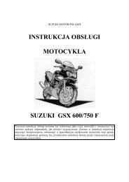 instrukcja obsługi motocykla suzuki gsx 600/750 f - Suzuki Motor ...