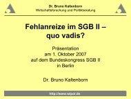 Fehlanreiz - Bundeskongress-sgb2.de