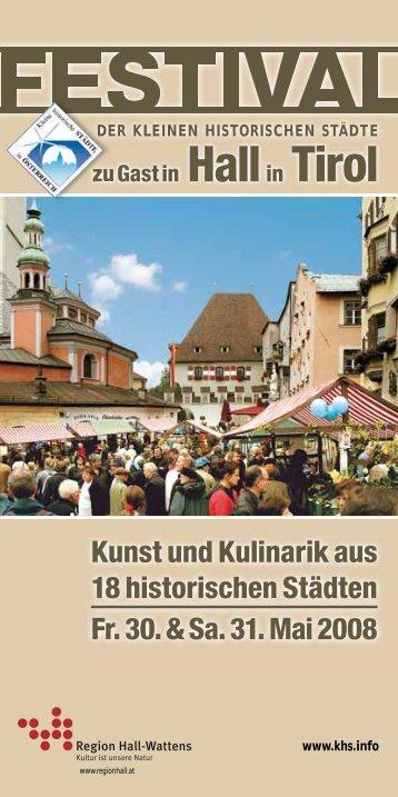 Kunst und Kulinarik aus 18 historischen Städten Fr ... - Zeit für Enns