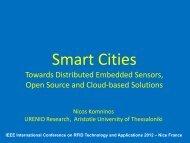 Smart Cities. Towards distributed embedded sensors, OS ... - Urenio