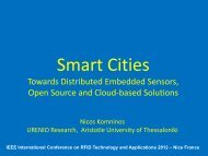 Smart Cities. Towards distributed embedded sensors, OS ... - Urenio