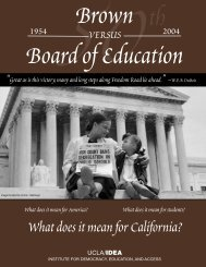 Brown vs. Board of Education Booklet - UCLA/IDEA