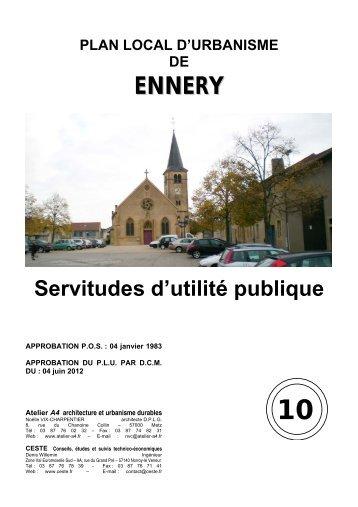 10 Servitudes d'utilité publique - Ennery