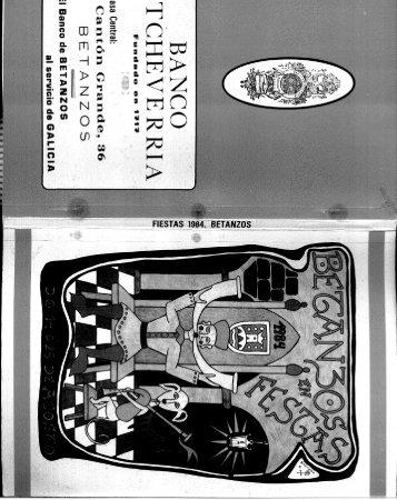 FIESTAS 1984. BETANZOS - Hemeroteca Virtual de Betanzos